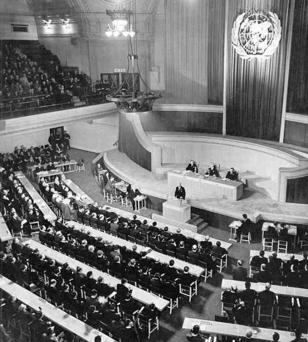 The first meeting of the UN General Assembly took place in London, UK on January 10, 1946.