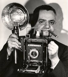 A 1944 self portrait of Weegee (Arthur Fellig).