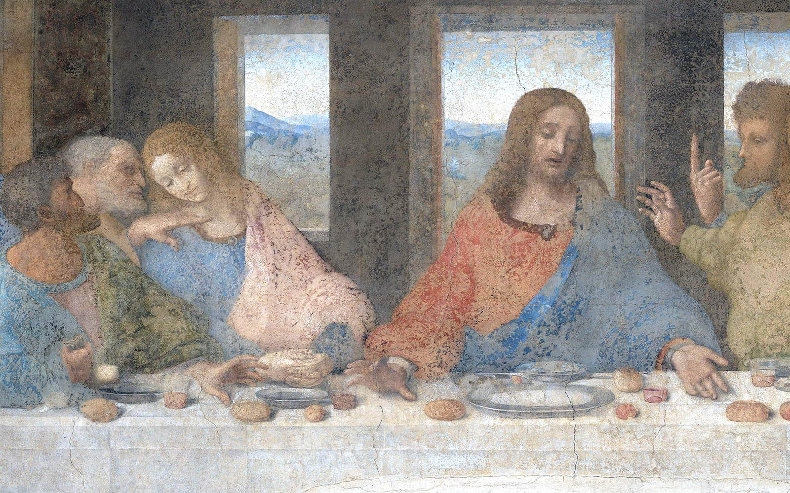 last supper detail