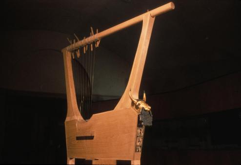 lyre with bull's head reconstruction
