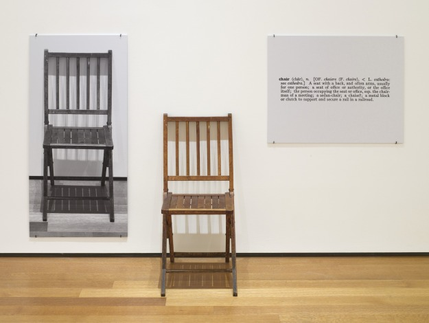 one and three chairs kosuth